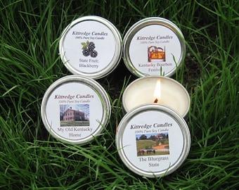 KENTUCKY  SAMPLER (four 2-oz soy candles)