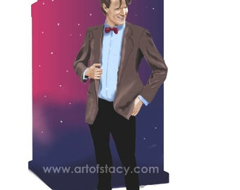 Digital Painting Print Matt Smith as the 11th Doctor from Doctor Who