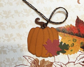 Autumn Harvest Pumpkin Tags