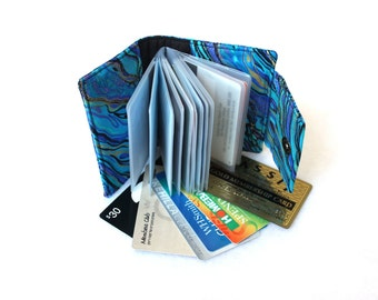 card holder wallet - credit card wallet - loyalty card holder - small photo album - brag book - business card holder - coupon organizer