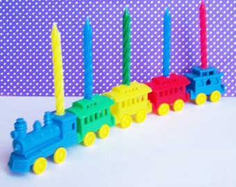 Train Candle Holder Cake Topper