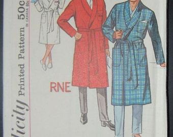 Simplicity 4739 Vintage Sewing Pattern Mens Nightwear Sale