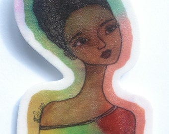 Peace African American Brooch - Large