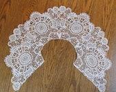 Large Schiffli Lace Collar, or Capelet, or Pelerine - Victorian Era