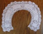 Amazing Silk Bobbin Lace Collar, Victorian Era
