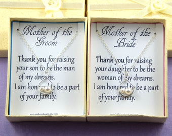 Mother Of The Bride Necklace, Mother in Law Thank you Gift, Sterling Silver Infinity Necklace