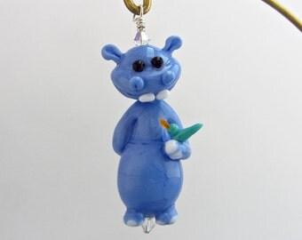 Hippopotamus Ornament - Lampwork Glass Creation SRA