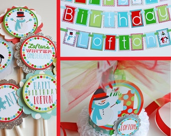 Winter Onederland Birthday Party Decorations - Fully Assembled | Penguin Birthday Party | Snowman Birthday Party | Wonderland Party