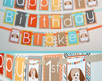 Puppy Birthday Party Banner Decorations Fully Assembled