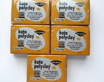 Polymer Clay, Kato Polyclay, Making Mold Gold 2 oz. Bar, Set of 5, Modeling Clay, Polymer Clay