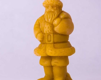 3 Beeswax Santa Claus Candles