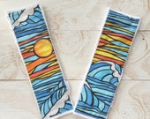 Surf and Sea Modern Burp Cloth Set for Baby Gift - Hawaii, Ocean, Surf Baby