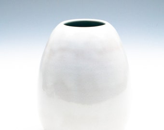 Bright White Medium Vase / Ceramic Vessel