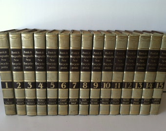 Funk & Wagnalls New Encyclopedia 15 Volumes 1983 Edition ~ Hardcover Books ~ Reference Books ~ Home school ~ Vintage Encyclopedia