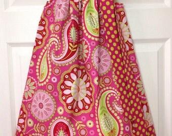 READY TO SHIP - Retro Paisley Pillowcase Dress Size 4