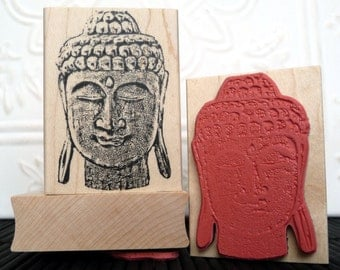 Zen Buddha rubber stamp from oldislandstamps