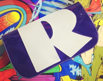 NEW! Purple Patent Leather Letter Clutch