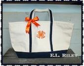 Set of 3, Bridesmaid Gift Tote bags, Personalize Tote, Monogram Bag, Bridesmaid bag