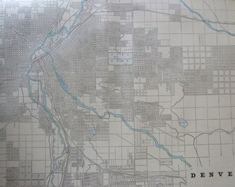 1891 City Map-Denver/St. Joseph - Antique Atlas Page 2-Sided 11 x 14.5 in Unframed Wall Decor