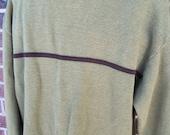 70% OFF CLEARANCE 90s J Crew Mens Cotton Sweater Moss Green Medium