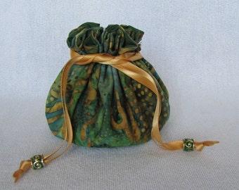 Jewelry Tote - Medium Size - Travel Bag - Drawstring Jewelry Pouch - Jewelry Bag - SWAMP RAT