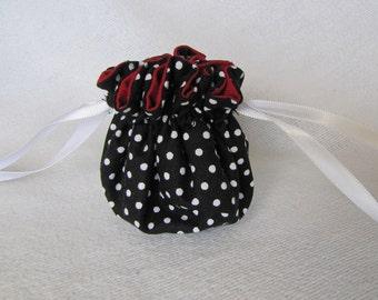 Jewelry Pouch - Mini Size - Drawstring Bag - Jewelry Tote - Bag for Jewelry - SPOTS a LOTA