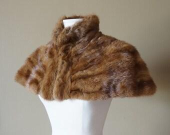 Vintage 1950s Womens Size Small Mink Capelet / Formal Wear, Fall Winter Bride