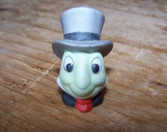 Jiminy Cricket, Disney Collectible, Cricket Thimble, Collectible Thimble, Ceramic Thimble, Small Bust, Miniature Bust, Disney Thimble