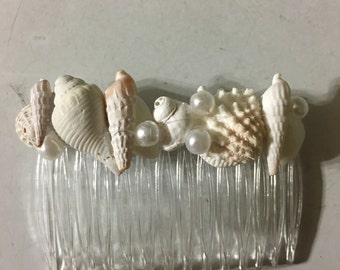 Wedding Seashell Hair Comb Crown Accessory Bride Bridesmaid Sea Shell Hairpiece