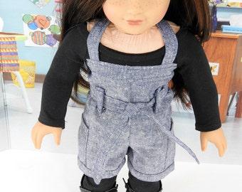 AG Doll Back to School Trendy Romper, Leggings, Top