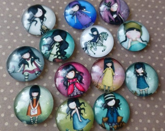 UK free postage Little Girl Glass Cabochons Pack of 20