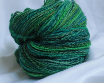 Hand spun Super fine merino worsted weight  302 yards