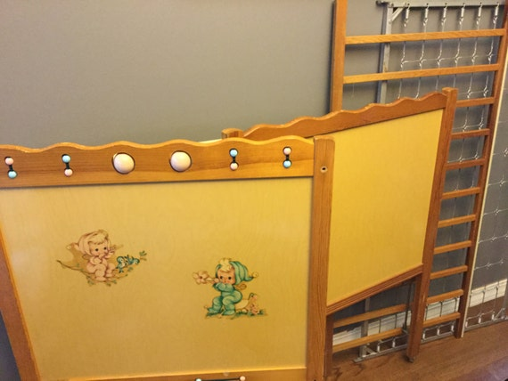 Items Similar To Vintage Baby Crib Thomas Edison Little Folks Furniture On Etsy