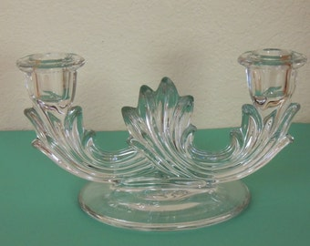 Fostoria Baroque Double Candle Holder