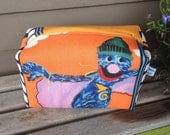 Super Grover Recycled Zipper Pouch