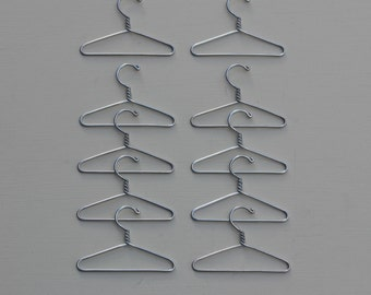 2 1/2 inch Doll Clothes Hanger Set of 10 - Wire