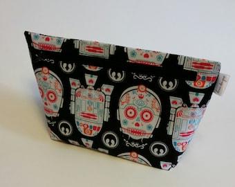 Star War Sugar Skulls Make up Bag- Accessory Bag