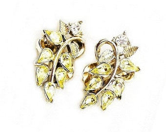 Bogoff Jonquil Color Leaf Earrings