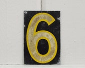 Vintage House Number, Metal Tag, Number Six, Number Nine Altered Art, Old House Parts, Architectural Salvage