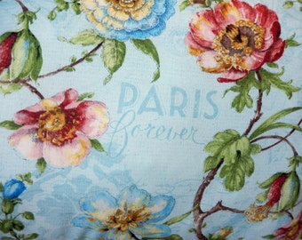 Paris Forever Pillow in Blues and Pinks, so French so Chic!
