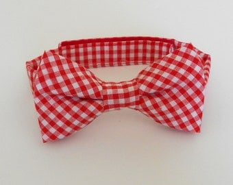 Red Gingham Bowtie, Infant, Toddler, Boy and Men too                                  2 weeks before shipping
