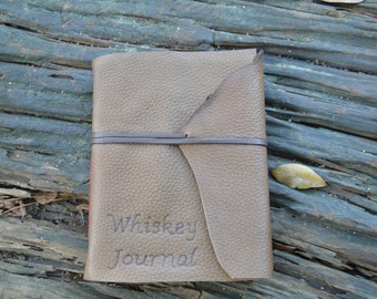 Made to Order Whiskey Lovers Unite... Leather Whiskey Tasting Journal Travel Size  FREE Personalization