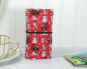 Large tea wallet, Cat tea wallet, 8 pockets, Mothers day gift, gift for tea drinker, travel tea bag case