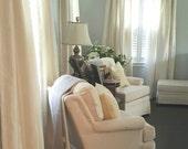 Beautiful Custom Dupioni Silk Drapes / Curtains Neutrals