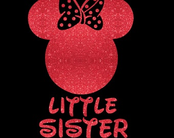 Minnie Mouse Little Sister SVG JPEG instant digital file download for vinyl cutters