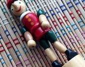 Vintage Pinocchio Wooden Push Toy