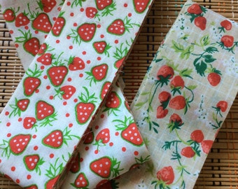 Vintage Strawberry Wide Bias Tape Duo, R