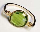 Peridot Ring  14K Gold Filled Ring   Peridot Hydro Stone   Peridot Jewelry  August Birthstone