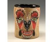 Skull Cup - Ceramic Skull Tumbler by Jenny Mendes