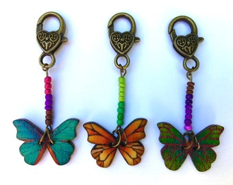 Progress keeper, stitch marker,pattern marker,knitting,crochet,BUTTERFLY PARLOUR